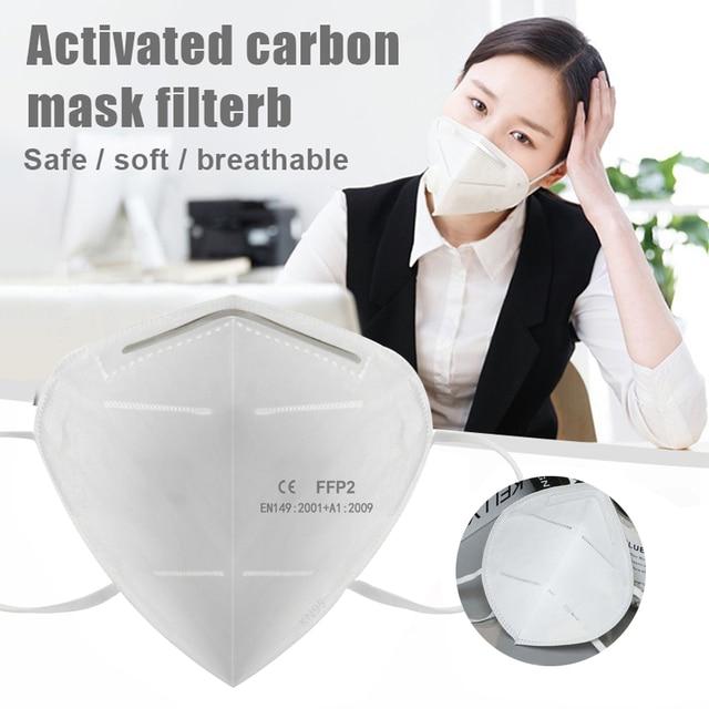 KN95 Mask 5 Layer Flu Anti Infection N95 Protective Masks ffp2 Respirator PM2.5 Safety Same As KF94 3