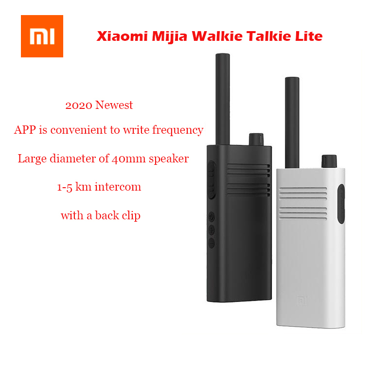 2020 оригинальная портативная рация Xiaomi Mijia Lite гражданская 5 км внутренняя связь уличная портативная мини-рация портативная рация для приложе...