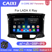 Caixi 2 Din Radio Auto Multimedia Video Player 2 Gb Ram Android 9.0 2Din Dvd Voor Lada X-Ray lada, X-Ray 2015 2016 2017- 2019