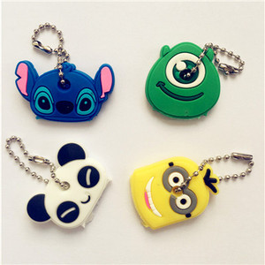 Key Holder Cartoon Silicone Protective key Case Cover For keys Cute Creative PVC Soft Keychain Ornament Pendant