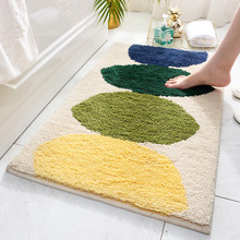 Bedroom living room carpet floor mats simple home kitchen bathroom door water-absorbing anti-slip mats недорого