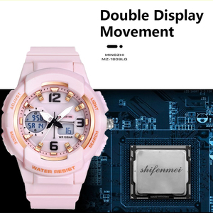 Image 5 - Shifenmei דיגיטלי שעון נשים ספורט נשים שעונים למעלה מותג גבירותיי צמיד שעוני יד קוורץ שעון נשי Relogio Feminino
