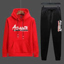 Men Clothing Set Sportswear 2019 Autumn New Hoodies Sweatshirts Sporting Sets Letter Print Tracksuits 2 Piece Hoodies+Pants