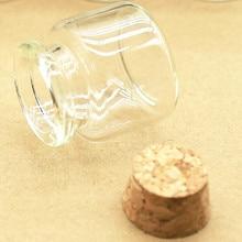 25pcs/Lot 30*30mm 10ml Corks Mini Containe Glass Bottles Crafts Tiny Jars Stopper Transparent Empty small Glass vial DIY Bottles