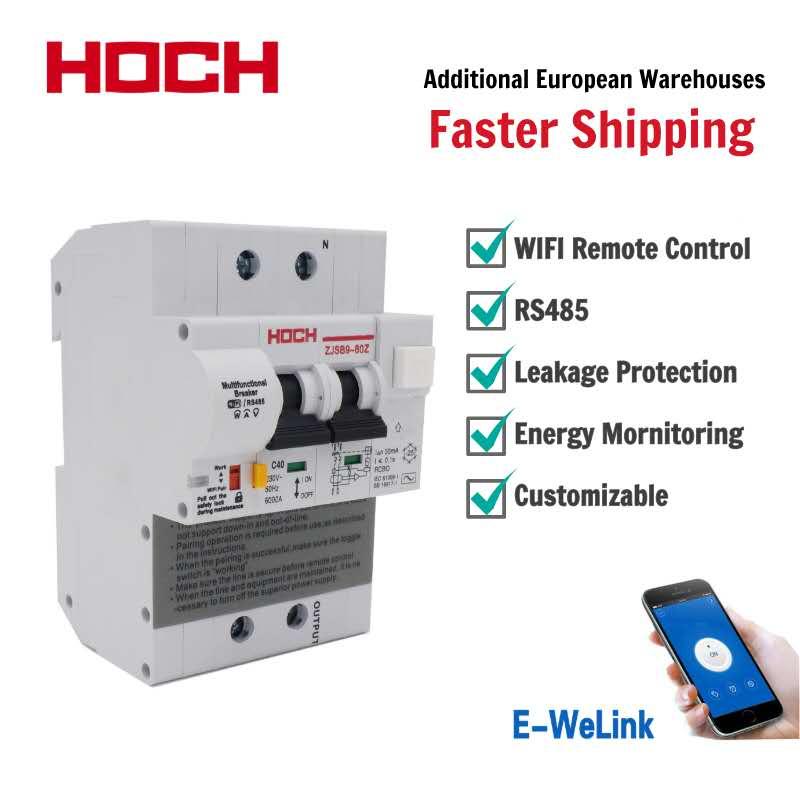 HOCH Monitoring Circuit-Breaker Smart-Switch Energy WIFI Ewelink Wireless Remote-Control