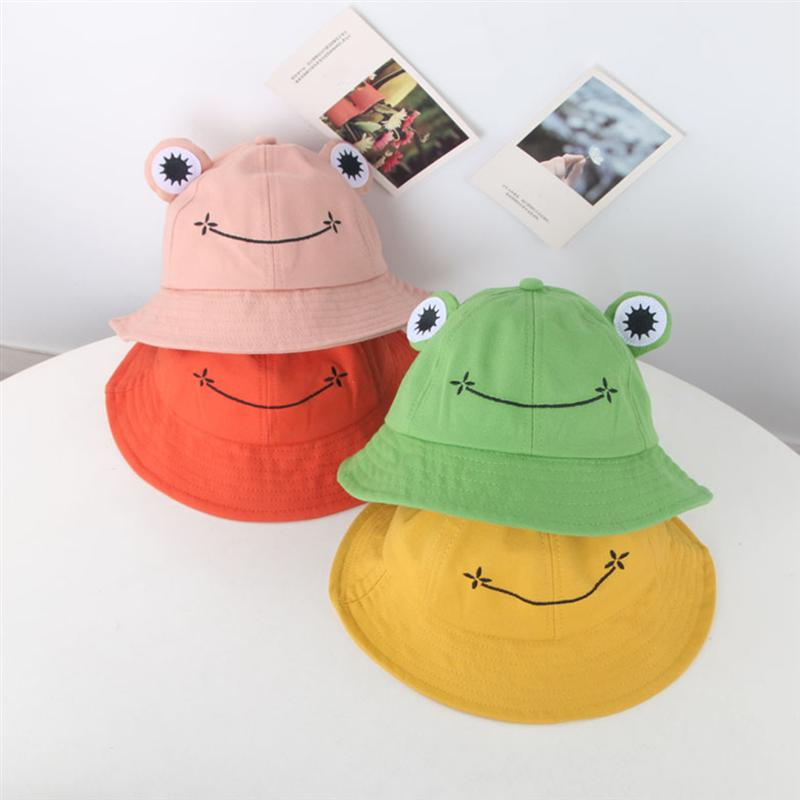 1PC Lovely Sun Protection Hat Practical Outdoor Activities Cap Creative Frog Casual Cap For Kids Childern Baby (Orange)
