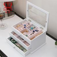 Packaging Storage Drawer organizer Large capacity Jewelry Storage box Display case Earings fashion jewelry display jewelry box