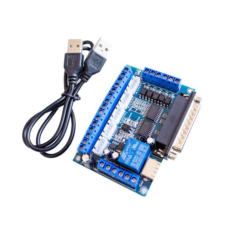CNC 5 оси шаговый двигатель драйвер интерфейсная плата с usb-кабелем оптрон изоляция для MACH3 гравировальный станок OCT998