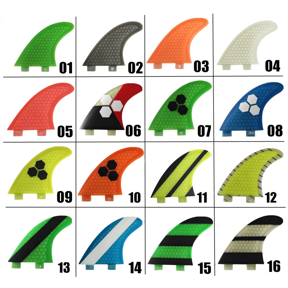 FCS G3 / G5 / G7 زعانف خضراء من الألياف الزجاجية SUP Surfboard Fin Fins in Surfing accessories surfboard