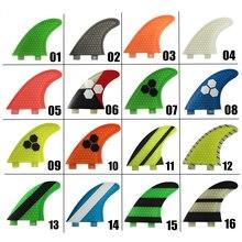 สีเขียวไฟเบอร์กลาส fins กระดานโต้คลื่น FCS