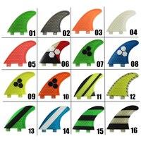 FCS G3/G5/G7 pinne verde in Fibra di Vetro SUP Tavola Da Surf Pinna Pinne in Surf tavola da surf accessori