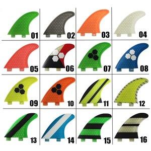 Image 1 - Fcs g5 barbatanas de fibra de vidro verde sup barbatanas de prancha de surf em surf acessórios