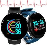 Reloj inteligente D18 para hombre, pulsera deportiva resistente al agua con control del ritmo cardíaco, para Android e IOS