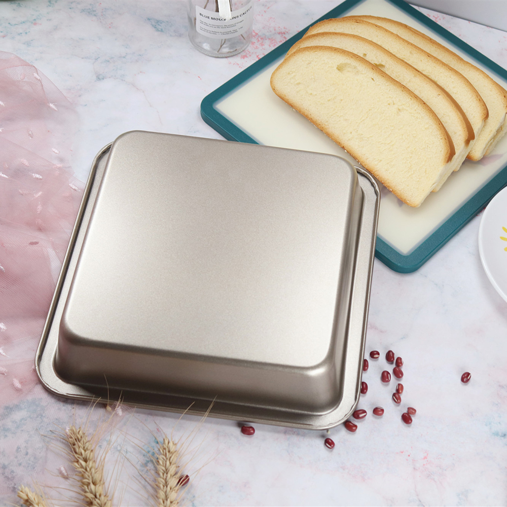 8 inch square Oven baking pan Trays Steel Baking Trays Bread Baking Pan baguette Cookie Cake Mold Pan microwave dish baking tray