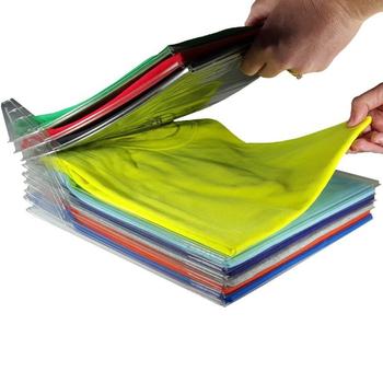 20 sztuk partia strona główna szafa organizator ubrania Folder organizator koszula Folder dokumenty dzielniki T-Shirt system organizacji odzieży tanie i dobre opinie HAIMAITONG CN (pochodzenie) Closet Clothes Folder Podłogowy Nieskładany stojak Pięć warstw i więcej Przechowywanie posiadaczy i stojaki