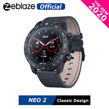 Новинка 2020 г., Смарт часы Zeblaze NEO 2 для здоровья и фитнеса, водонепроницаемые, с лучшим сроком службы батареи, классический дизайн, Bluetooth 5,0, для Android/IOS