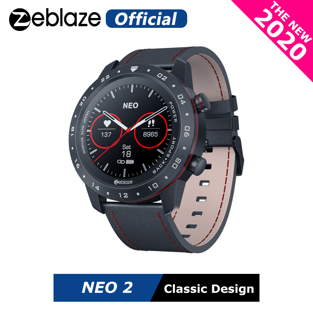 The New 2020 Zeblaze NEO 2 Smartwatch Health&Fitness Waterproof/Better Battery Life Classic Design Bluetooth 5.0 For Android/IOS|Smart Watches| - AliExpress