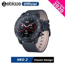 Новинка 2020 г., Смарт-часы Zeblaze NEO 2 для здоровья и фитнеса, водонепроницаемые, с лучшим сроком службы батареи, классический дизайн, Bluetooth 5,0, для ...
