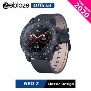 Умные часы Zeblaze NEO 2, умные часы для здоровья и фитнеса, водонепроницаемые, улучшенный Срок службы батареи, классический дизайн, Bluetooth 5,0, для Android/IOS, 2020