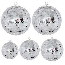 Thrisdar diâmetro 15/20/25/30 cm espelho de vidro reflexivo bola de discoteca natal festa de casamento barra de discoteca espelho bola luz do estágio