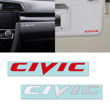 Autocollants de moyeu de volant Honda Civic Accord Odyssey Spirior CRV SUV | Badges décoratifs en nickel métal 3D pour Honda Civic(China)