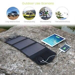 Image 5 - ALLPOWERS 18V 21W Solar Ladegerät Panel Wasserdichte Faltbare Solar Power Bank für 12v Auto Batterie Handy outdoor Wandern