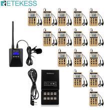 цены Retekess TR506  FM Transmitter + 15pcs V112 FM Radio Receiver  Tour Guide System Guiding Church Meeting Translation System