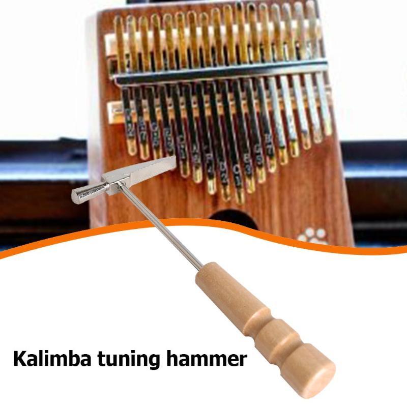 Kalimba Tuning Hammer Portable Wooden Handle Tuning Hammer For All Size Thumb Piano Metal Musical Instruments Parts