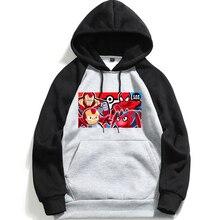 Avengers Marvel Hero Iron Man Spiderman Mens  Long Sleeve Hooded Sweatshirt Hoodie Loose Casual Fitness Hoodies