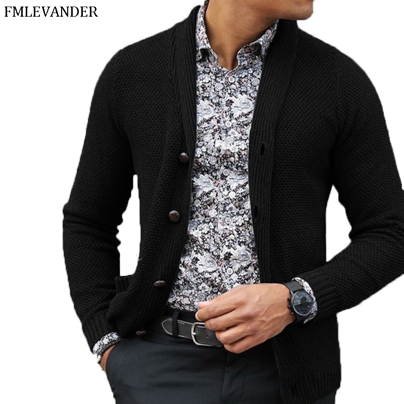 Ropa De Hombre Autumn Winter 2019 Men' S Outwear Fashion Cardigan Men Sweater Overcoat