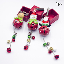 Pendant Cartoon DIY Christmas Iron Art Holiday Lovely Children Ornament Home Festival Hanging Bell Accessories Gift