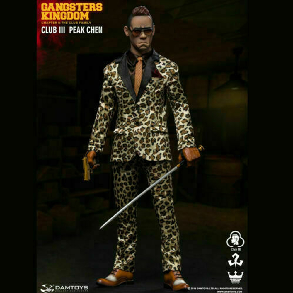 DAMTOYS GK018 1/6th Club 3 Peak Chen <font><b>Gangsters</b></font> <font><b>Kingdom</b></font> Action Figure Model Toys image