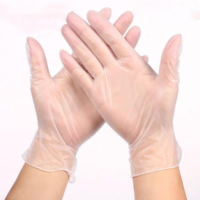 Disposable Glove Transparent PVC Plastic Good Toughness Kitchen Cooking Glove