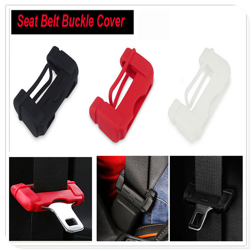 Car Safety Belt Buckle Covers Seat Protector for YAMAHA Renault Trucks Dacia Citroen Kenworth Infiniti Skoda Octavia A7