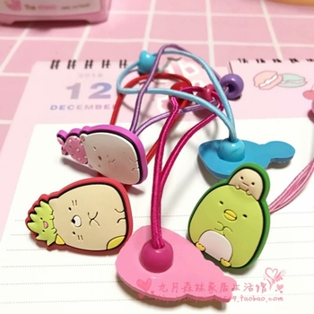1 Pc Kawaii Sumikko Gurashi Rilakkuma corner biological hair rope children's hair accessories rubber band thin hair rope