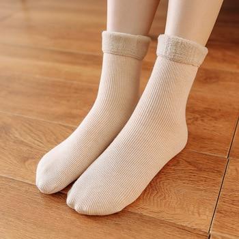 16 Pairs/set Warm and Thickened Female Socks Middle Tube Socks Women Socks Autumn and Winter Warm Snow Socks Wholesale