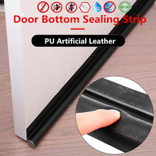 96CM PU Artificial Leather Self-adhesive Door Bottom Gap Sealing Strip Soundproof Acoustic Foam Doors Joint Gap Sealer Protector