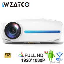 Wzatco c2 1920*1080p hd completo 200 polegada ac3 4d keystone led projetor android 10.0 wifi portátil 4k casa teatro beamer proyector