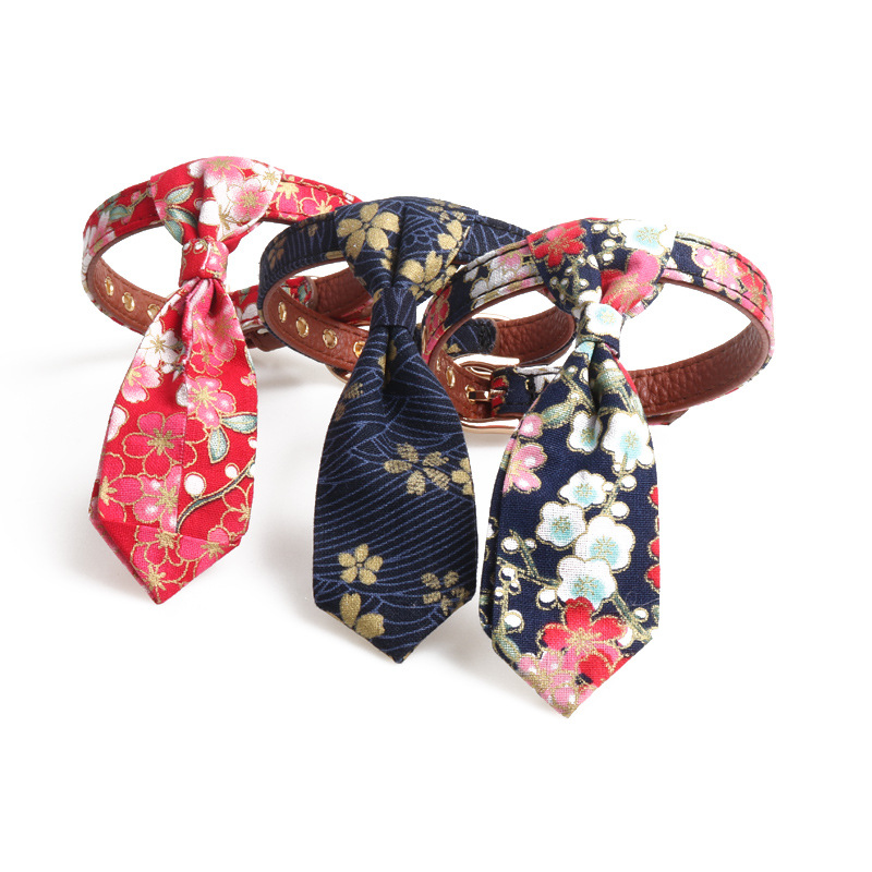 Amin Lattice New Style Deconstructable And Wind Series Bowtie Neck Ring Pet Collar Dog Bowtie Tie