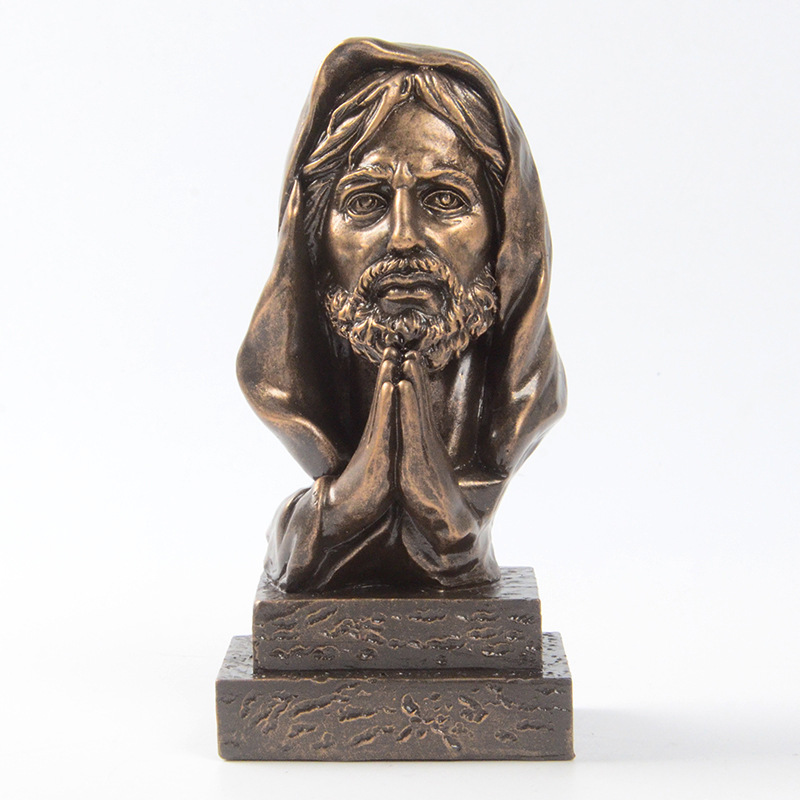 Creative Jesus Statue Resin Jesus Christ Cross Church Decoration, Modern Sculpture Home Decoration Crafts  Catholic Supplies
