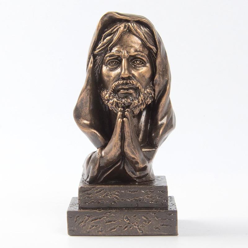 Creative Jesus Statue Resin Jesus Christ Cross Church Decoration, Modern Sculpture Home Decoration Crafts  Catholic Supplies