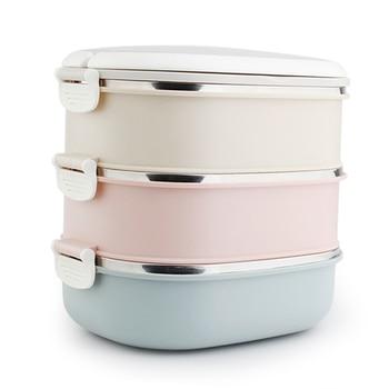 Cajas de comida de 3 capas de acero inoxidable, caja de Metal...