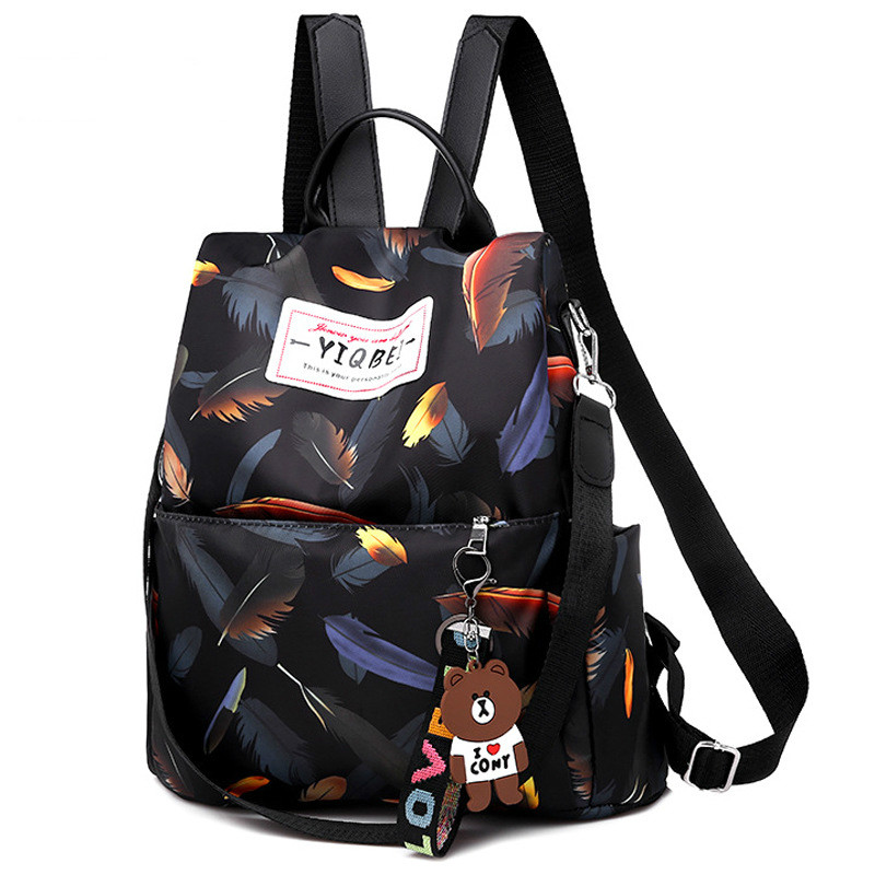 Women Oxford School Backpack WaterProof Anti-theft Casual Travel Shoulder Bag Ladies Print Travelling Bags Backpacks