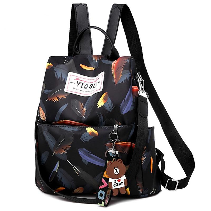 Women Oxford School Backpack WaterProof Anti-theft Casual Travel Shoulder Bag Ladies Print Travelling Bags Backpacks