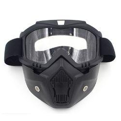 Kask na narty i rower otwarta maska gogle z osłoną wiatroodporny Sandproof Retro gogle jazda na zewnątrz maska Outdoor sprzęt sportowy