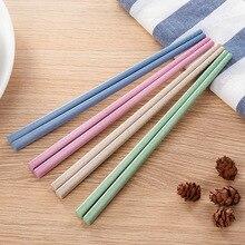 Travel Chopsticks Tableware Kitchen for Kids One-Pair Wheat-Straw Hotel Safety Restaurant