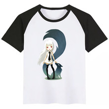 Cool Fox Print Kids T Shirt Funny Kawaii Cartoon Girl Top Harajuku White Round Neck Short Sleeves Boys Tshirt New Arrival trendy short sleeves skulls print round neck t shirt for men