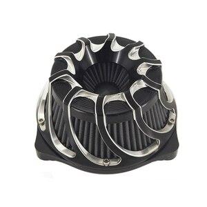 Image 3 - Çok açılı hava temizleyici hava filtresi kasırga spiral için Harley Sportster XL 1200 Dyna 00 17 Softail 3.00 18 Touring FLHX FLHR NESS