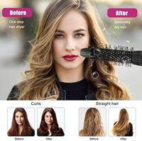 Multifunctional Hair Straightening 5 in 1 Hot Air Brush Styler Comb Brush Negative Ions Hair Styling Tool Blow Dryer Brush 2
