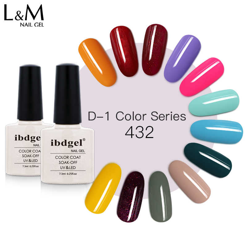 Ibdgel Gel Nagellak Naakt Pure Serie Kleuren Combo Uv Led Soak Off Nail Art Manicure Salon Gift 7.3Ml 3Pcs Set